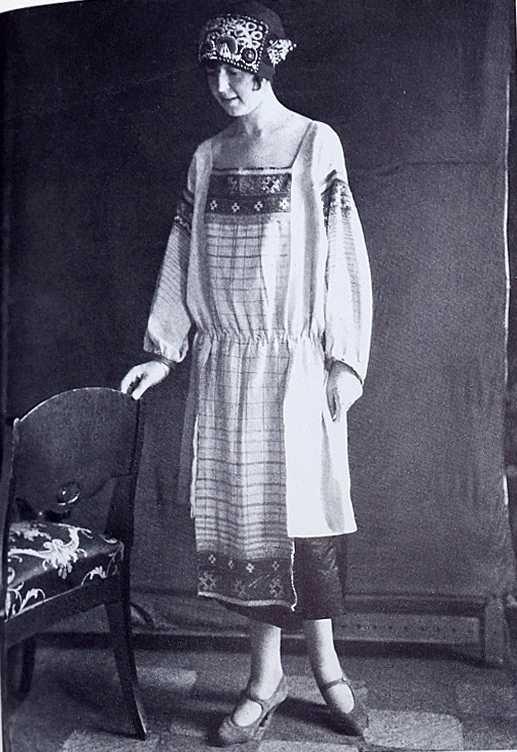 Lamanova's designs at 1923. A costume incorporating embroidered towels