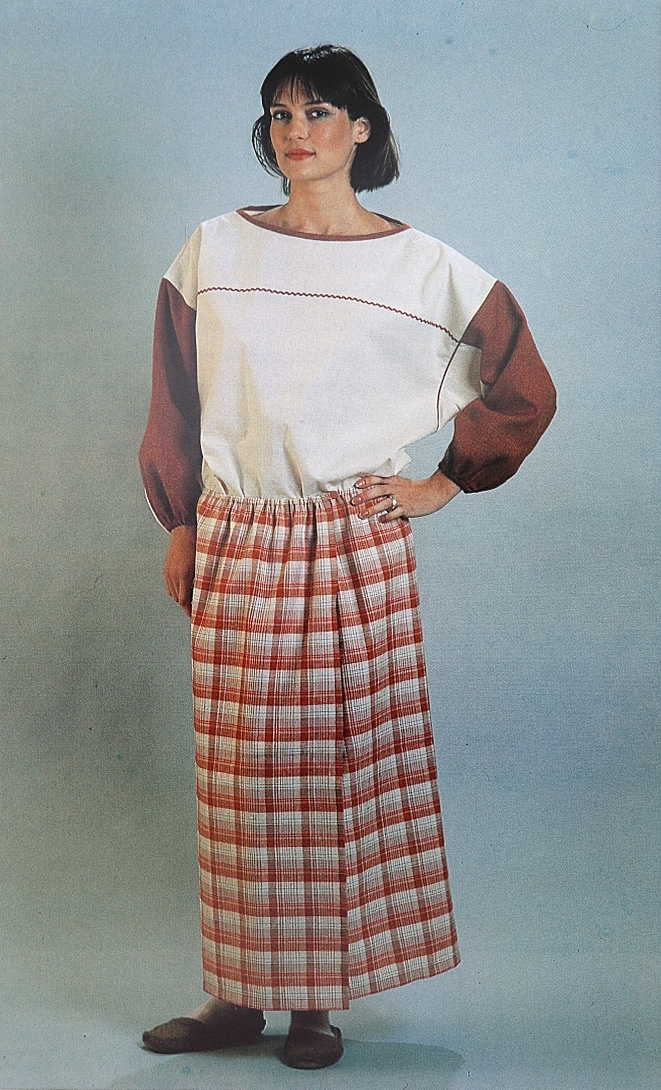 Khudiakova, a well-known designer in her own right, models the dress.