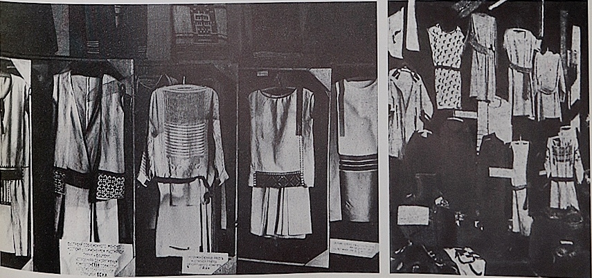 shown at the exhibition of modern woman's costume in Moscow in 1923